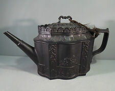 a Fine Black Basalt Early English Teapot c1810 Georgian Neoclassical Castleford?