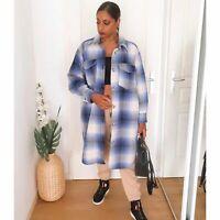 H&M Shacket Coat Long Jacket Medium NWT