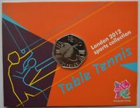 2012 London Olympic Games 50p Sports Collection Uncirculated Coin Table Tennis