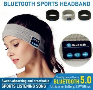 UK Headset Sports Wireless Bluetooth Earphones Headphones Headband Sleep Stereo