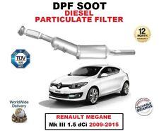 DPF DIESEL SOOT PARTICULATE FILTER for RENAULT MEGANE Mk III 1.5 dCi 2009-2015