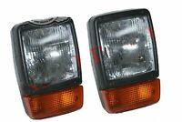 Front Headlight Headlamp + Indicator Assembly Pair With H4 12v Bulb JCB Dumpers
