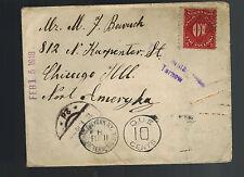 1916 Tarnow Poland Postage Due Cover to USA No Franking!