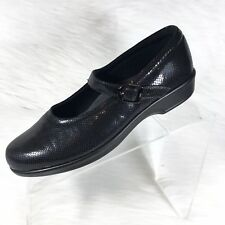 SAS Maria Women's Mary Jane shoes Black Leather Shimmer Comfort Size 8 N