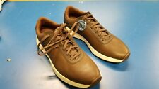 New Open Box Walter Hagen Water-Resistant Ortholite Brown Golf Shoes Size 12