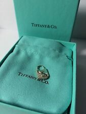 Beautiful Tiffany & Co Sterling Silver Hammered Key Hole Lock Charm Pendant