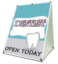 "Dentist Open Today Sidewalk A Frame 18""x24"" Outdoor Vinyl Retail Sign"
