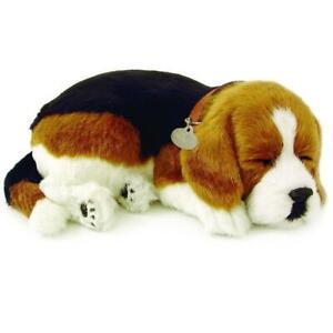 NEW Perfect Petzzz Soft Bundle Breathing Sleeping Puppy Toy - Beagle
