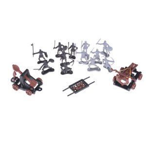 14pcs Knights Medieval Toy Catapult Soldiers Figures Playset Model Toys GifJBSU