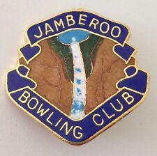 Jamberoo Bowling Club Badge Pin Waterfall Design Vintage Lawn Bowls (L28)