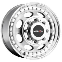 "Vision 181 Hauler Dually Front 17x6.5 8x6.5"" Machined Wheel Rim"