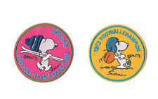 SNOOPY Iron on / Sew on 2-Piece Patch Set Embroidered Badge Cartoon TV PS6