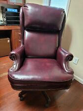 High Boss Recline 360 Boss Office Chair Leatherette Maroon Office Executive