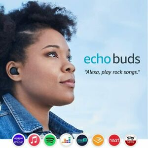 New Amazon Echo Buds Wireless Earbuds With Immersive Sound and Alexa - Black !!