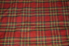 Plaid Suiting Polyester Fabric Apparel Twill Weave Muted Colors  BFab