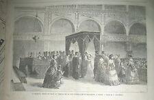 MARIAGE ISRAELITE TEMPLE N.-D. DE NAZARETH LAZERGES LA CHRONIQUE ILLUSTRéE 1869