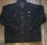 RARE Vintage 1990s Johnny Blaze Heavy Denim Jean Button Jacket Men's Size XL