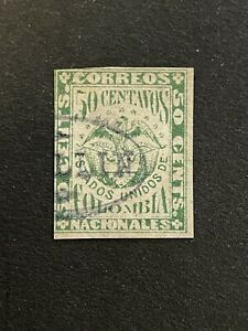 CLASSIC 50 CENTS/CENTAVOS COLOMBIA VF USED B.681.23 START 0.99$
