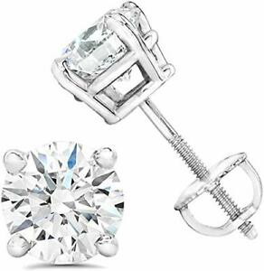 AGS Certified (Near Colorless SI2-I1)1/5Ct To 1.0Ct Natural Diamond Stud Earring