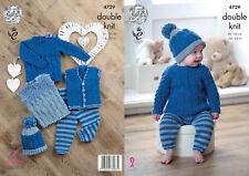 Knitting Pattern Baby Jumper Waistcoat Slipover Leggings & Hat King Cole DK 4729