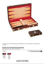 Custom LOUIS VUITTON Backgammon Set - Amazing!!