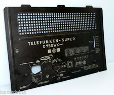 Back Panel for Telefunken Super D750WK Tube Radio from 1940 Very Good! (578)