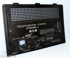 Rückwand für TELEFUNKEN Super D750WK Röhrenradio von 1940 sehr gut ! (578)