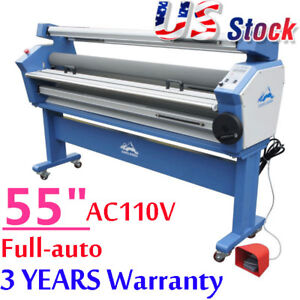 """US Upgrade 55"""" Wide Format Cold Laminator Laminating Heat Assisted with Trimmer"""