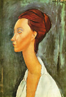 Hand painted Oil painting amedeo modigliani - Nice young woman Lunia Czechovska