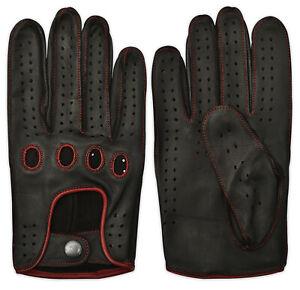 Men's Retro Dress Car Bus Driving Fashion Chauffeur Gloves 100% Real Leather