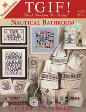 TGIF Nautical Bathroom 18 Weekend Projects Counted Cross Stitch Book
