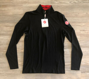 Castelli Meccanico Long Sleeve 100% Wool 1/2 Zip Cycling / Biking Top Men's Sz S