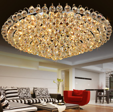 Modern Luxury K9 Crystal Chandelier Flush Mount Home Ceiling Lighting Fixture