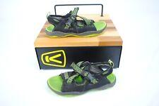 Keen Rock Iguana Black/Jasmine Green 1014416 Pre-School Size 3 Kids/Youth Sandal