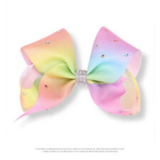 Fashion Jojo Siwa Fashion Girls Rainbow Multi Coloured Ribbon Hair Bow Clip