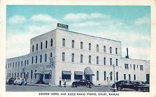 Vintage Postcard Coope Hotel & KXXX Radio Station Colby KS Thomas County