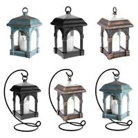 Waterproof Outdoor Solar Lantern Hanging Light LED Candle Yard Garden Lamp