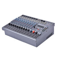 """16"""" Professional 12 Channel Studio Music Mixer Live Performance Console 48V"""