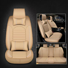 Full Set Deluxe Universal Pu leather 5-Seats Car Seat Front+Rear Cushion Cover