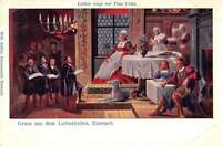 Eisenach Germany Luther Singing for Ursula Cotta Antique Postcard J42098