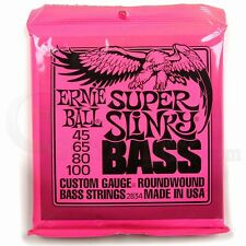 Ernie Ball Super Slinky Bass Guitar Strings 45-100