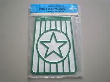 Rare NOS original METALPLAST Mudflap Green Star Vintage Lambretta Vespa