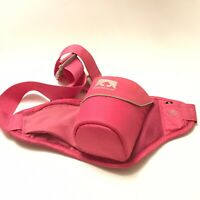 Nathan Triangle Waist Fanny Pack Hydration Belt Water Bottle Bag Pink Running