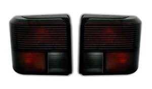 For VW T4 Bus Traner Caravelle Multivan 90-03 Black Tail Lights Rear Lamp Set