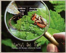 Peru 2017 Block Insekten Insects Käfer Beetle Mücke Neue Spezies Postfrisch MNH