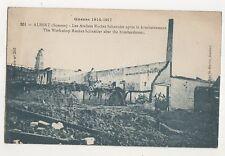 Guerre 1914-17 WW1 Albert Somme France Ateliers Rochet Schneider Postcard 700b
