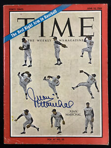 Juan Marichal Signed Time Magazine 6/10/66 No Label Giants HOF Autograph JSA