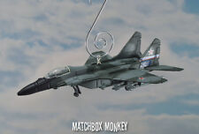 Soviet MIG 29 Fulcrum Fighter Jet Custom Christmas Ornament 1/64 Camouflage