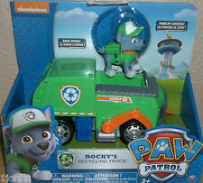 Nickelodeon Paw Patrol ROCKY'S Recycling Truck Figure and Vehicle BNIB!