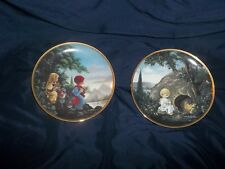 Precious moments Plates-He Is Not Here & The Flight Into Egypt-Bin G